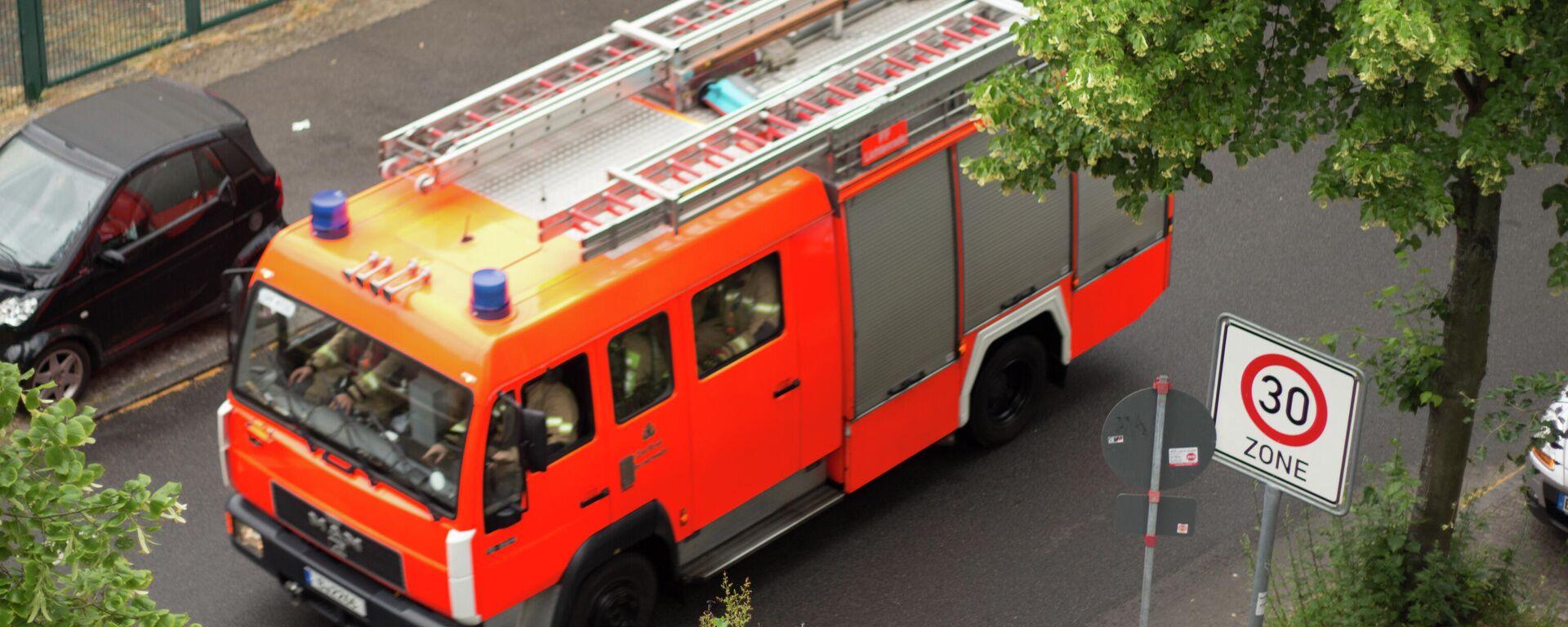 Feuerwehr in Deutschland (Archiv) - SNA, 1920, 28.09.2021