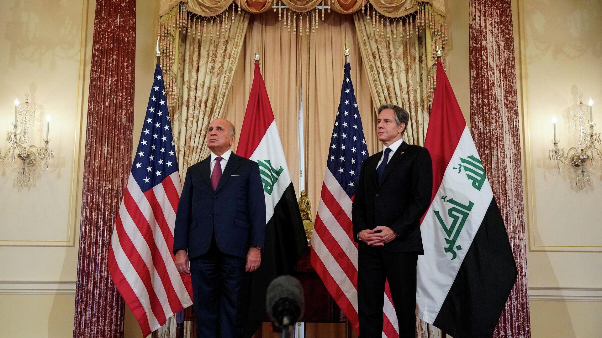 Antony Blinken und Fuad Hussein treffen sich im Außenministerium in Washington am 23. Juli 2021 - SNA, 1920, 27.07.2021