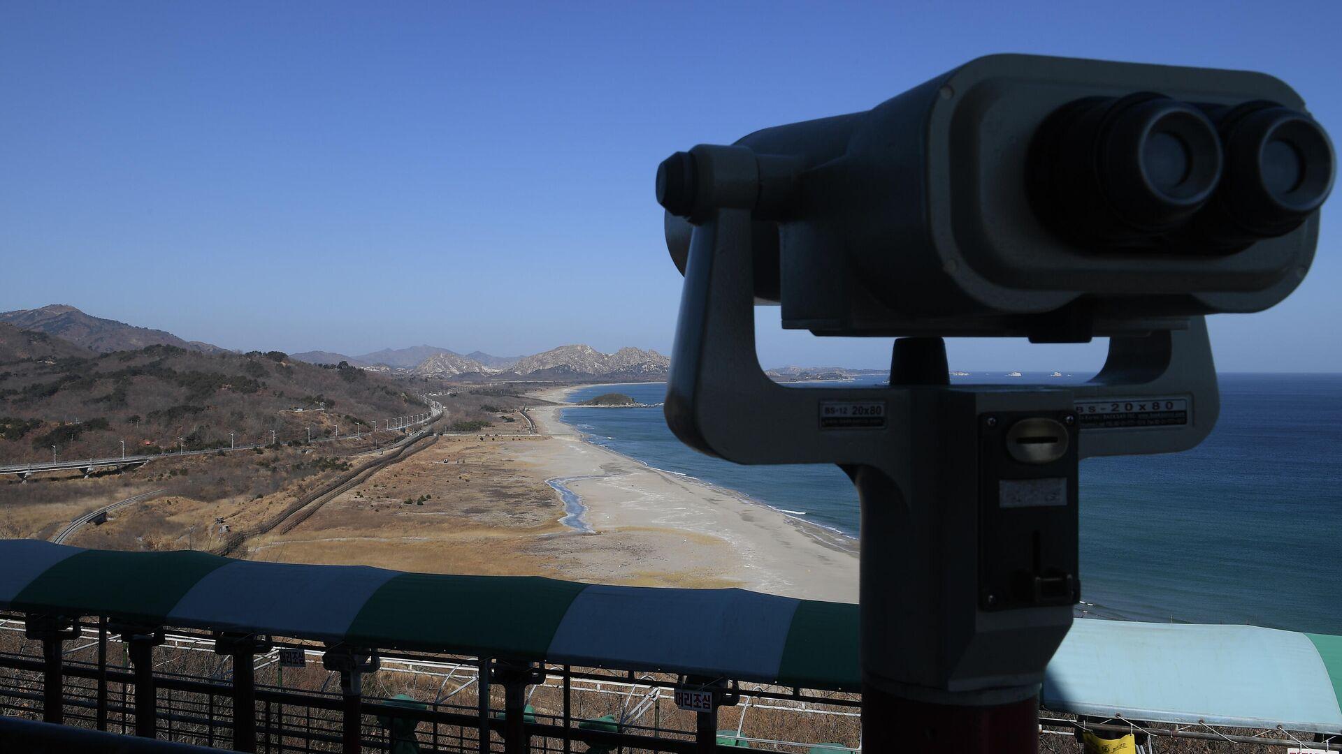 Blick auf die demilitarisierte Zone zwischen Nord- und Südkorea (Archiv) - SNA, 1920, 27.07.2021