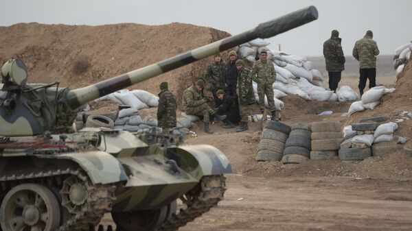 Азербайджанские военнослужащие на территории Агдамского район  - SNA