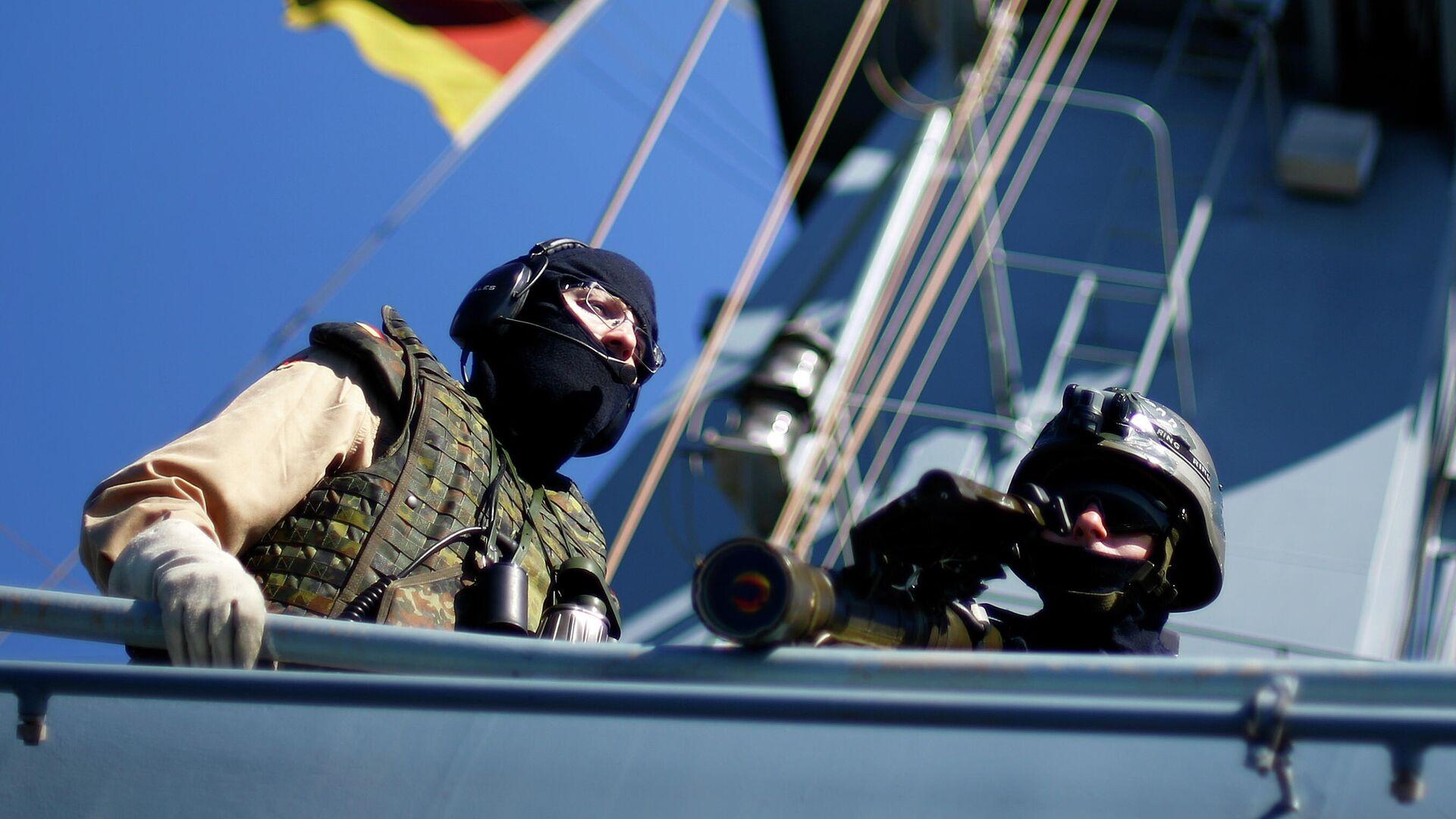 Deutsche Marinesoldaten nehmen an der EUNAVFOR MED-Operation Sophia im Mittelmeer vor der Küste Libyens teil. - SNA, 1920, 31.07.2021