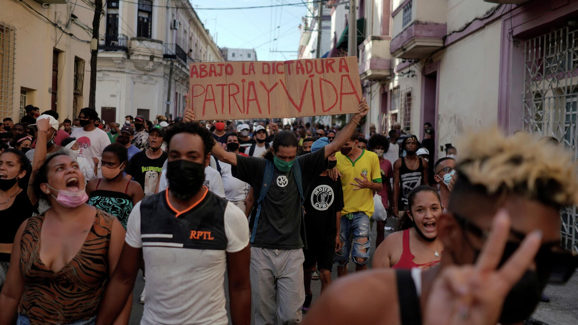 Proteste in Havanna - SNA, 1920, 31.07.2021