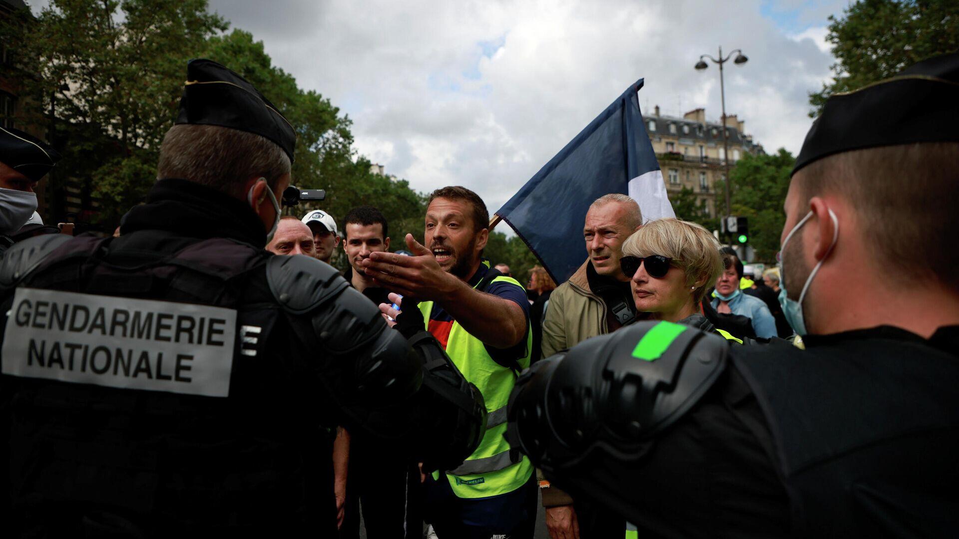 Großdemonstrationen gegen Corona-Regeln in Frankreich am 31. Juli - SNA, 1920, 31.07.2021