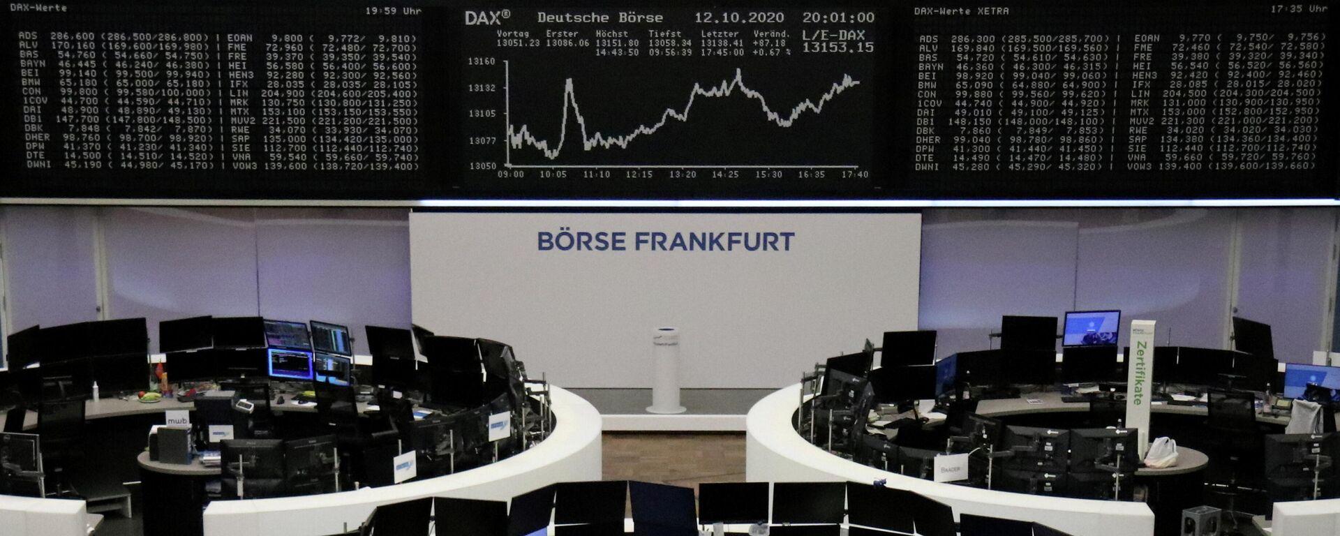 Dax-Index bei Börse Frankfurt - SNA, 1920, 09.08.2021