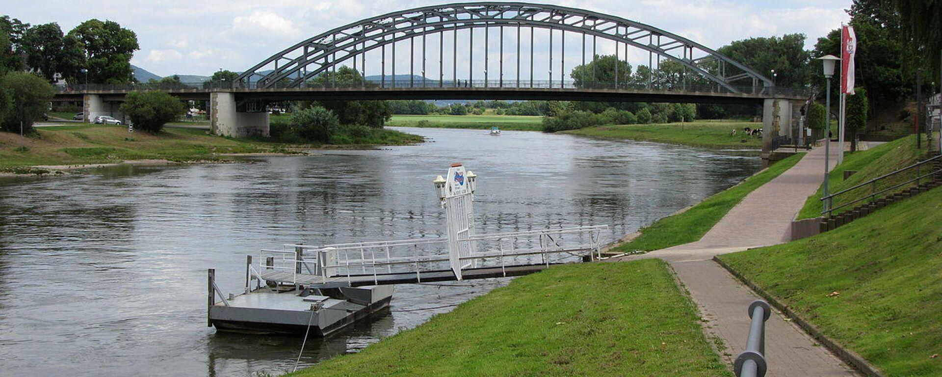 Hindenburgbrücke in Rinteln - SNA, 1920, 09.08.2021