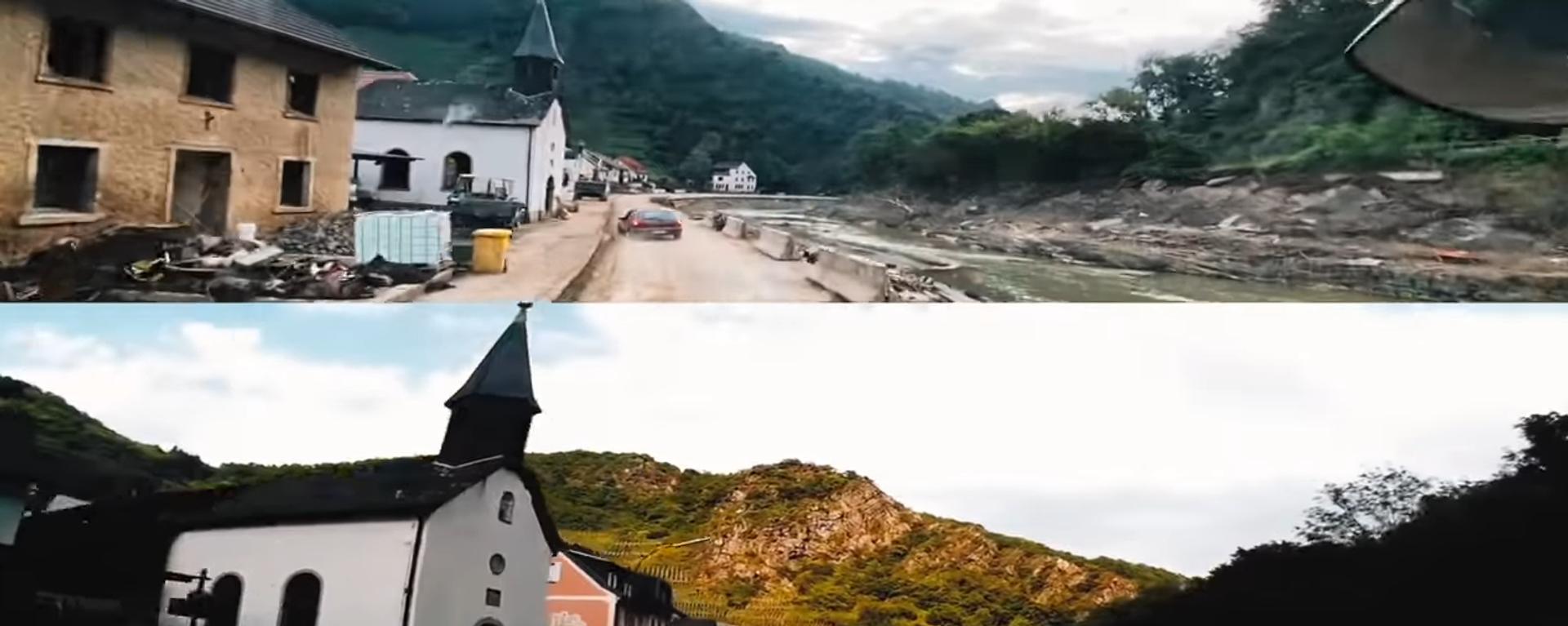 Vor und nach der Flut 2021: Die Ahr-Rotweinstraße von Altenahr nach Dernau - SNA, 1920, 11.08.2021