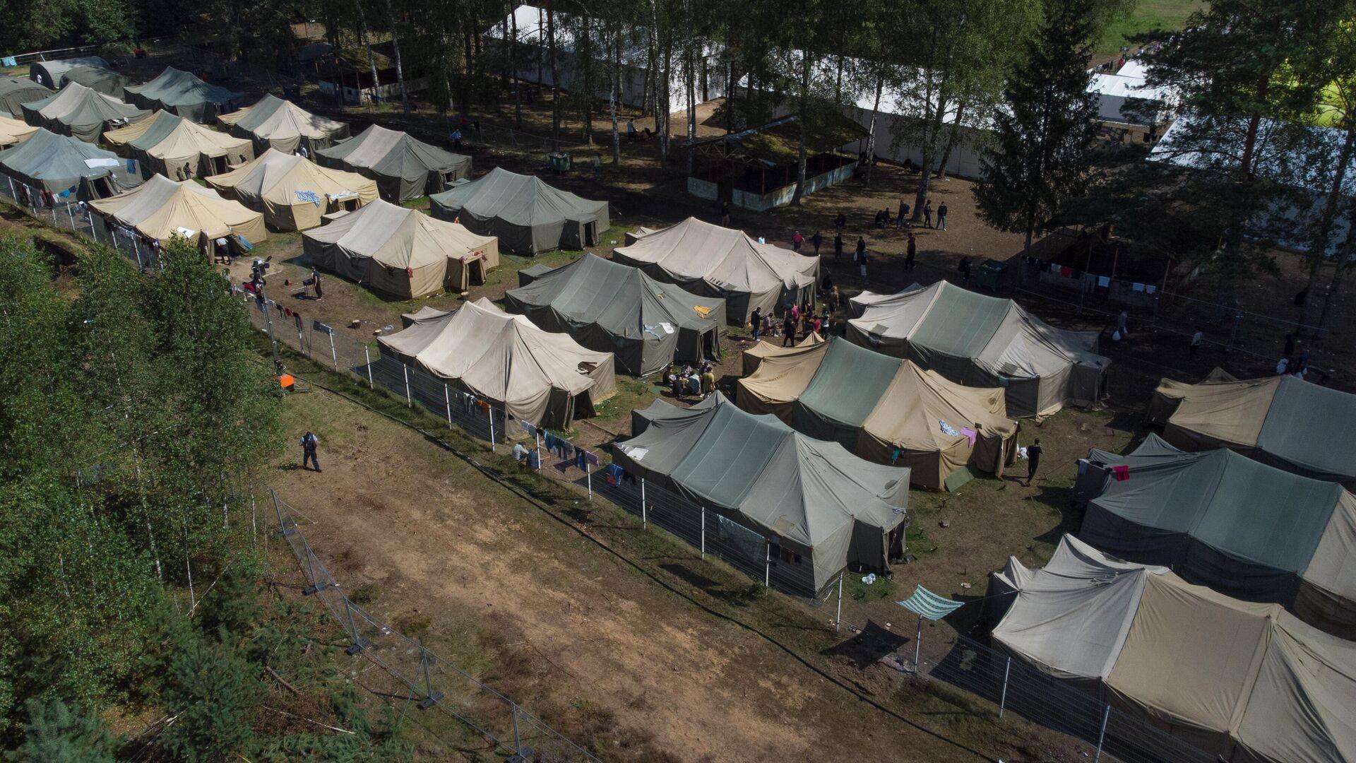 Migrantenlager an der weissrussisch-litauischen Grenze - SNA, 1920, 13.08.2021