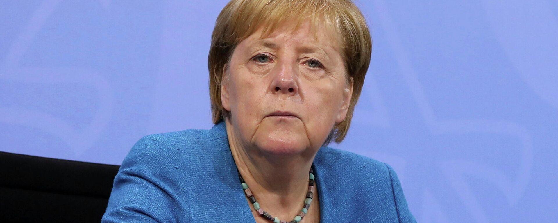 Noch-Bundeskanzlerin Angela Merkel. Berlin, 10. August 2021 - SNA, 1920, 16.08.2021