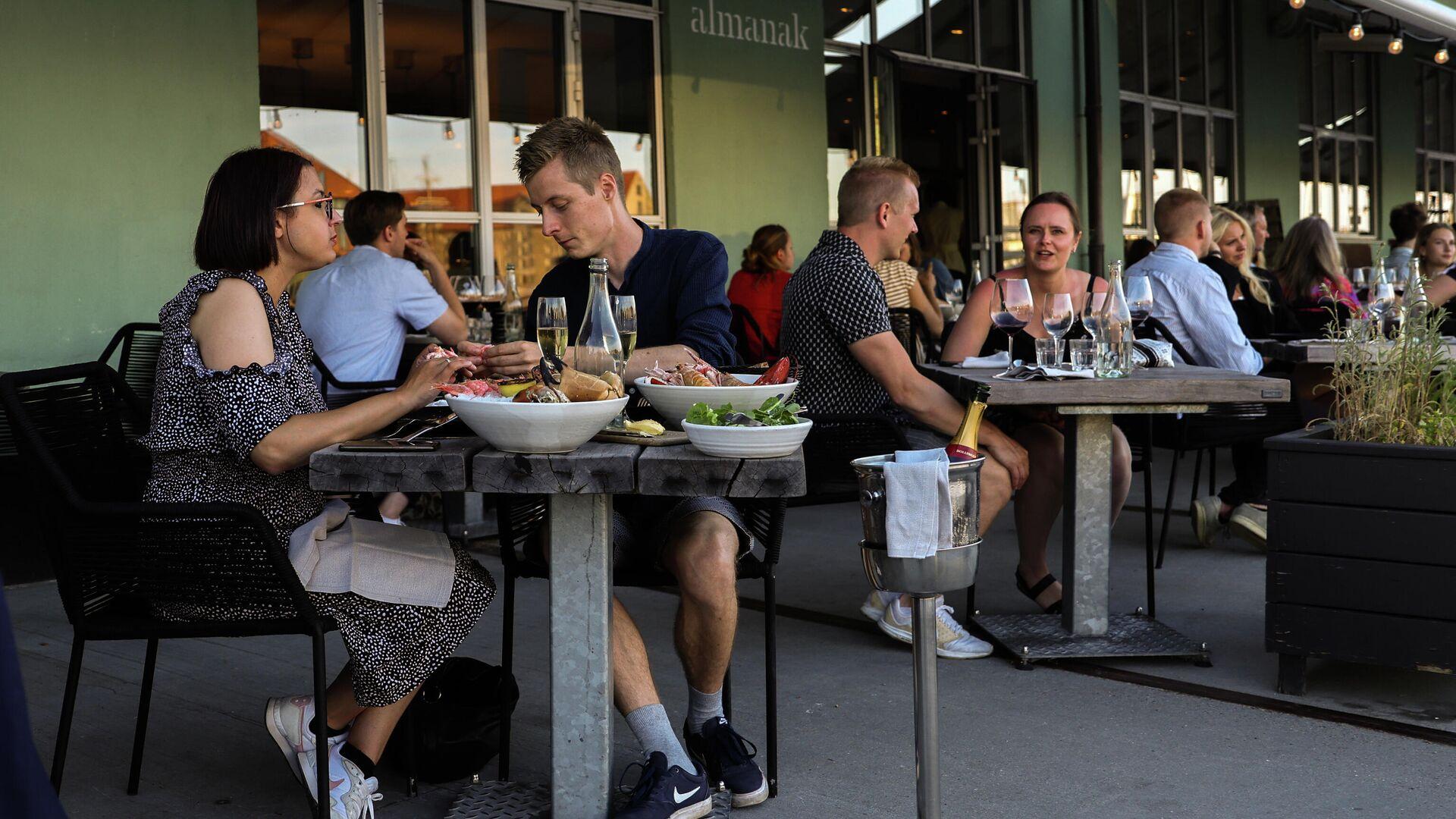 Menschen im Kopenhagener Café - SNA, 1920, 09.09.2021