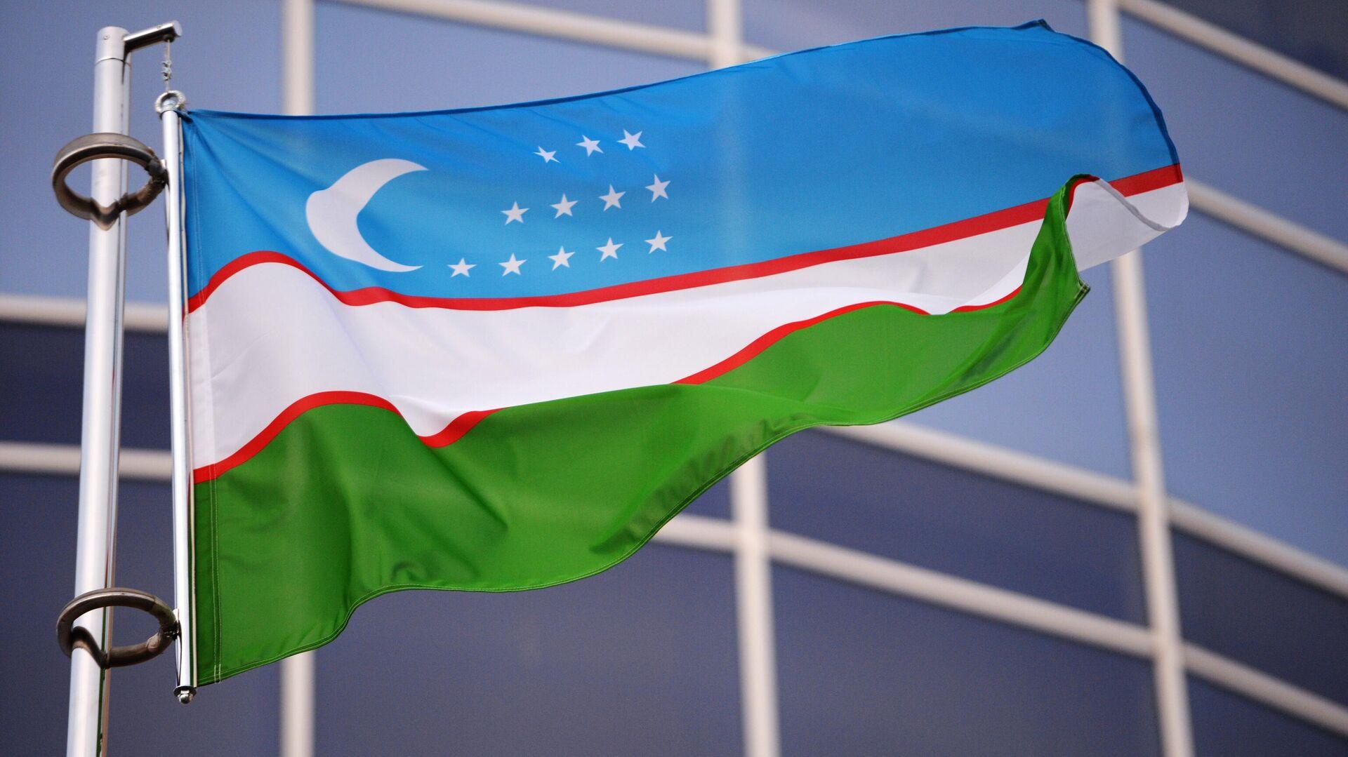Flagge von Usbekistan (Symbolbild) - SNA, 1920, 16.08.2021