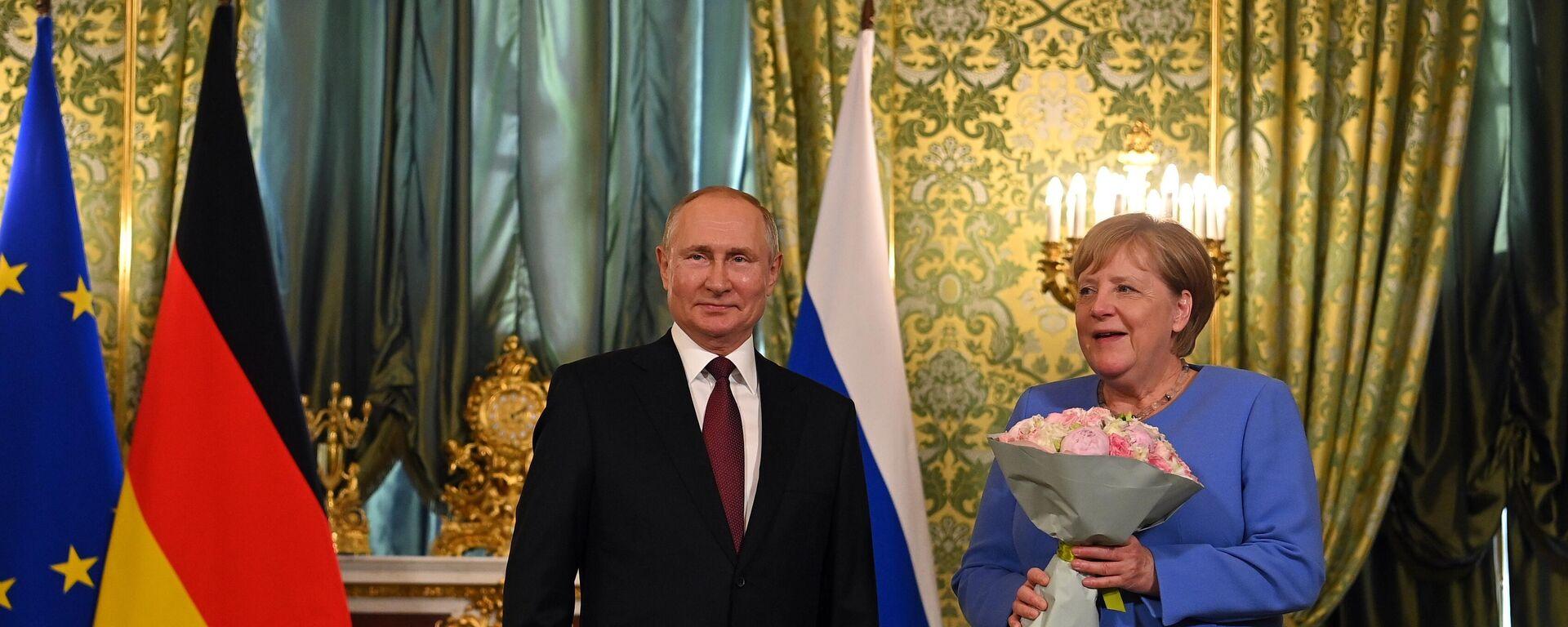 Bundeskanzlerin Angela Merkel in Moskau - SNA, 1920, 20.08.2021