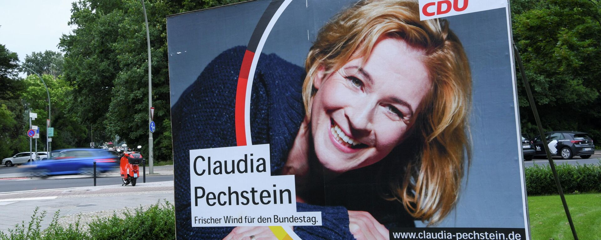 Wahlplakat mit Claudia Pechstein - SNA, 1920, 25.08.2021