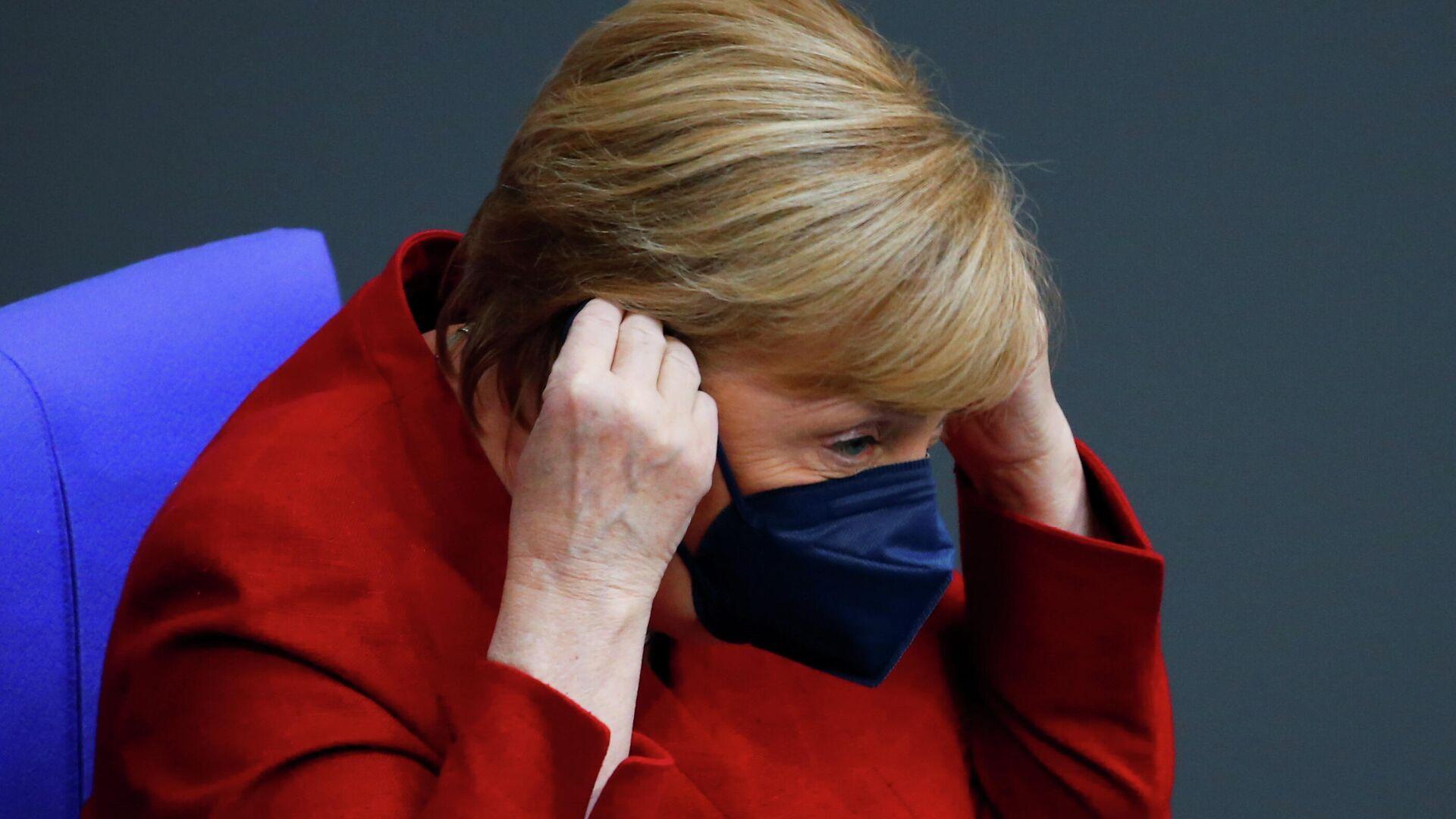 Bundeskanzlerin Angela Merkel während der Sondersitzung zu Afghanistan am 25. August, 2021 - SNA, 1920, 06.09.2021