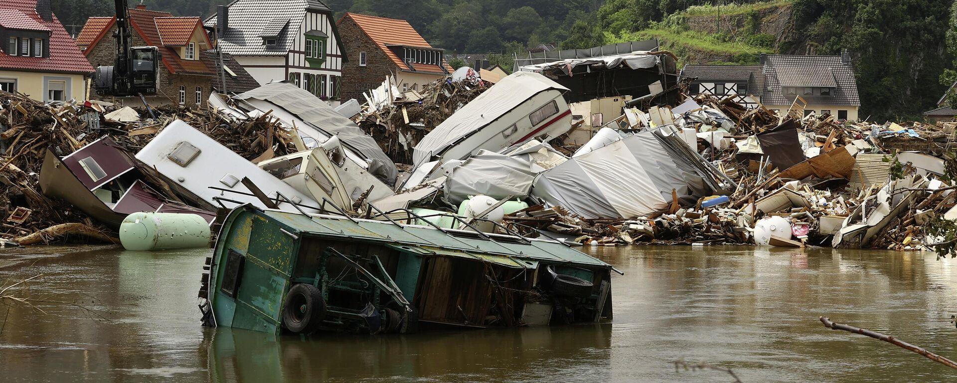 Hochwasser-Katastrophe in Deutschland im Juli 2021  - SNA, 1920, 29.08.2021