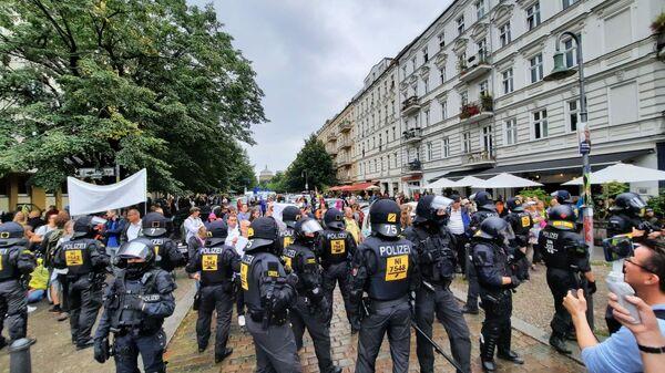 Coronakritische Proteste in Berlin am 29. August 2021 (hier Prenzlauer Berg) - SNA