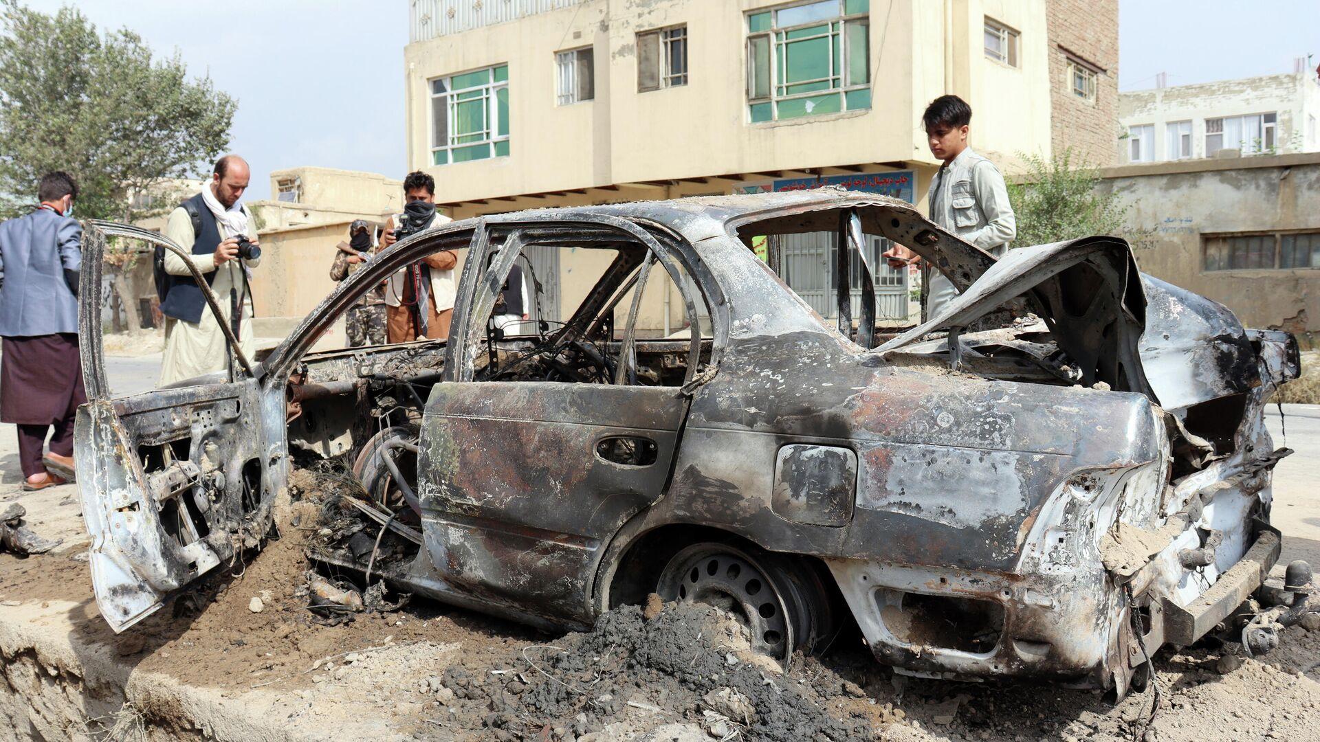 """US-Drohnenangriff auf ein """"verdächtiges Fahrzeug"""" in der afghanischen Hauptstadt Kabul  - SNA, 1920, 03.09.2021"""