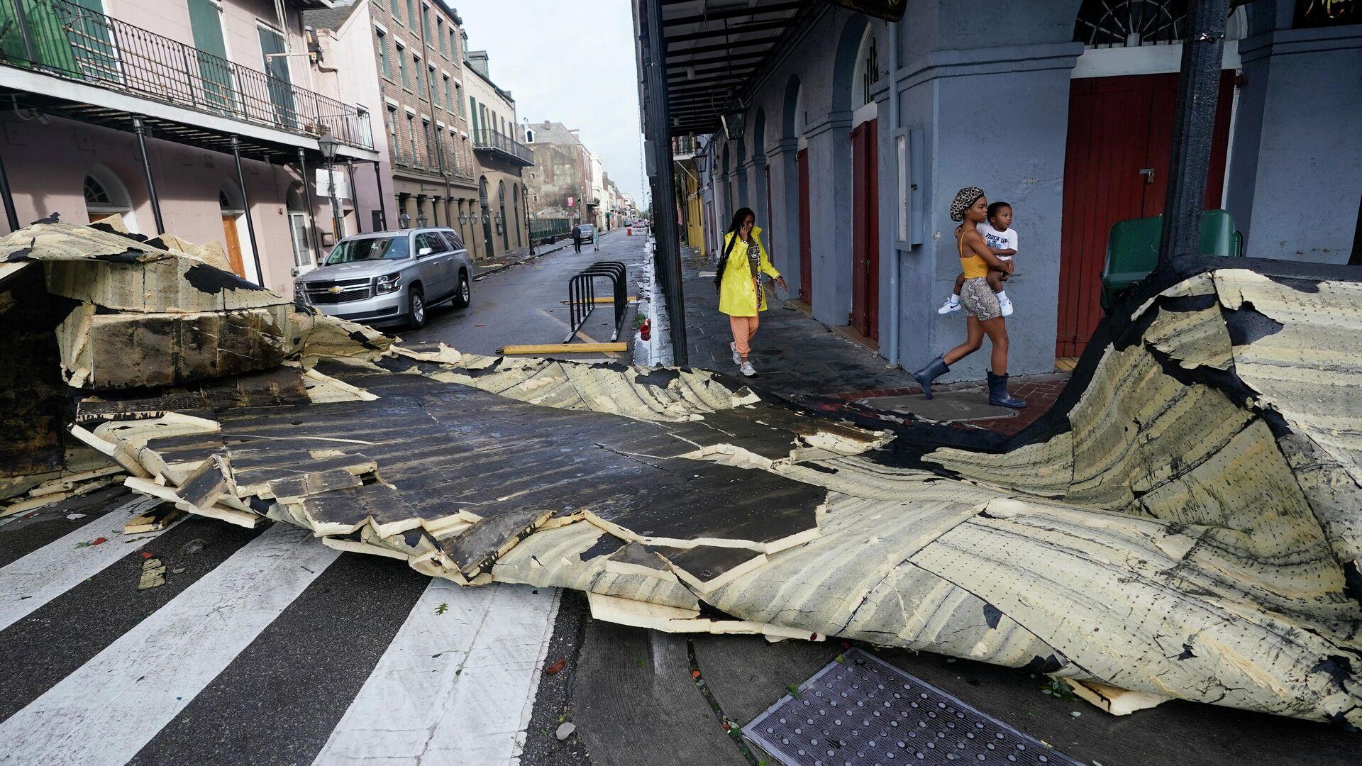 """Hurrikan """"Ida"""" wütet im Süden der USA - SNA, 1920, 30.08.2021"""