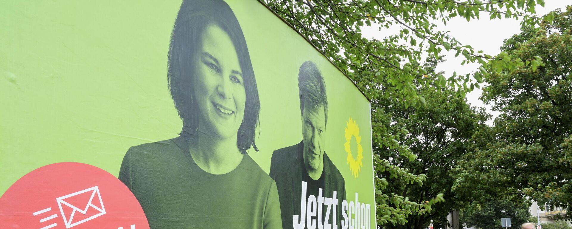 Ein  Wahlplakat der Grünen mit der Aufforderung zur Briefwahl in Hannover. - SNA, 1920, 31.08.2021