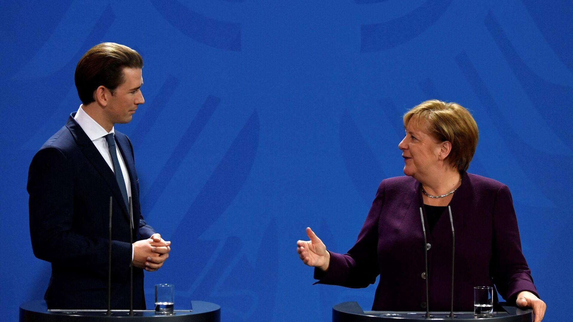 Sebastian Kurz und Angela Merkel  - SNA, 1920, 31.08.2021