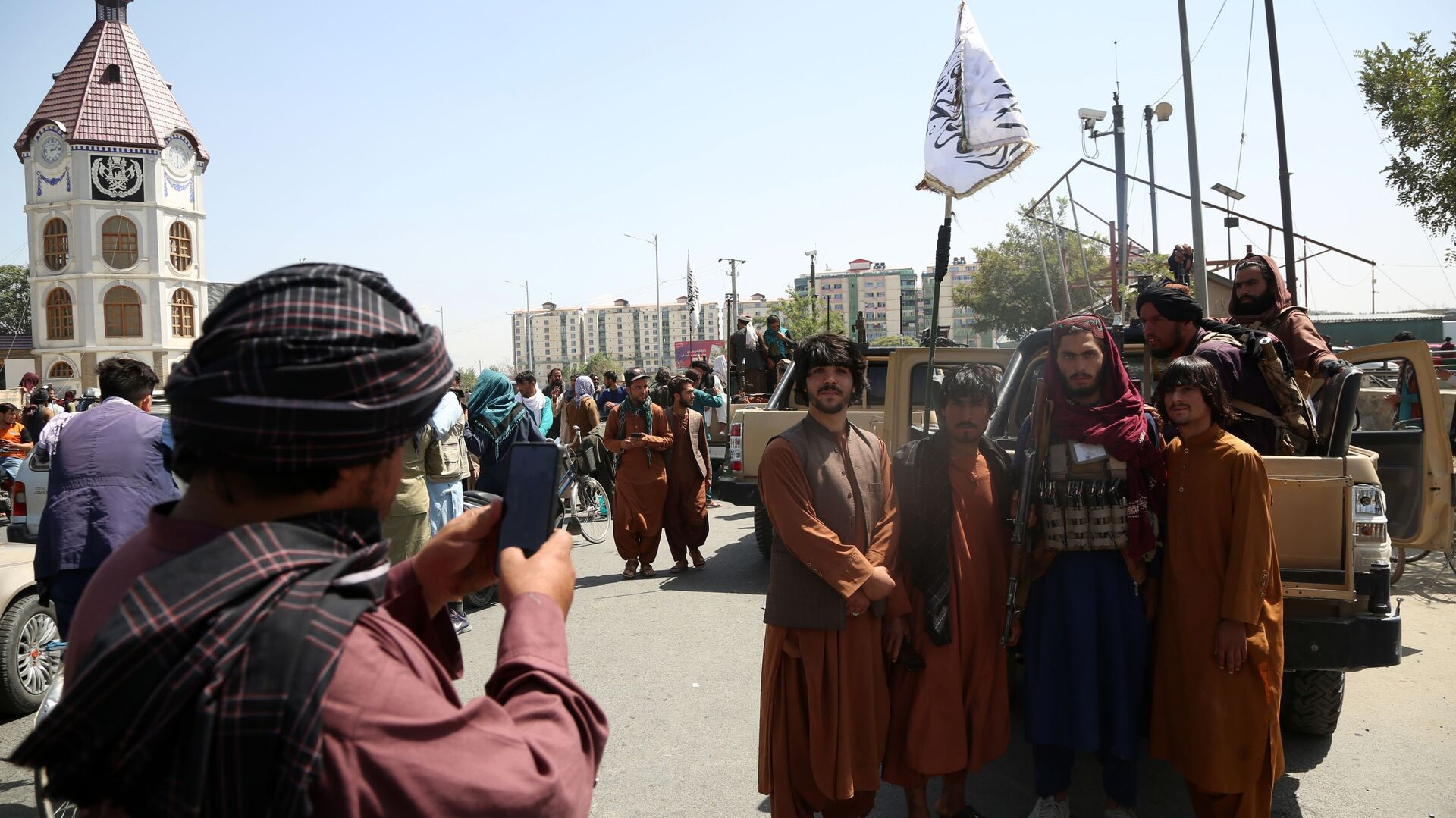 Taliban-Kämpfer in Kabul, Afghanistan - SNA, 1920, 06.09.2021
