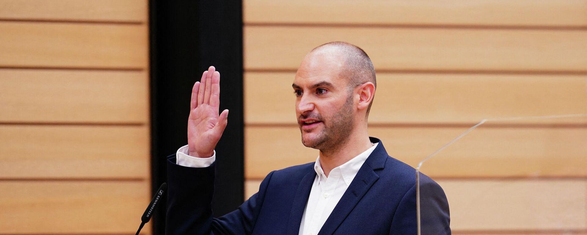 Danyal Bayaz wird am 12. Mai 2021 im Rahmen einer Vereidigung im Landtag in Stuttgart als Finanzminister Baden-Württembergs vereidigt.  - SNA, 1920, 01.09.2021
