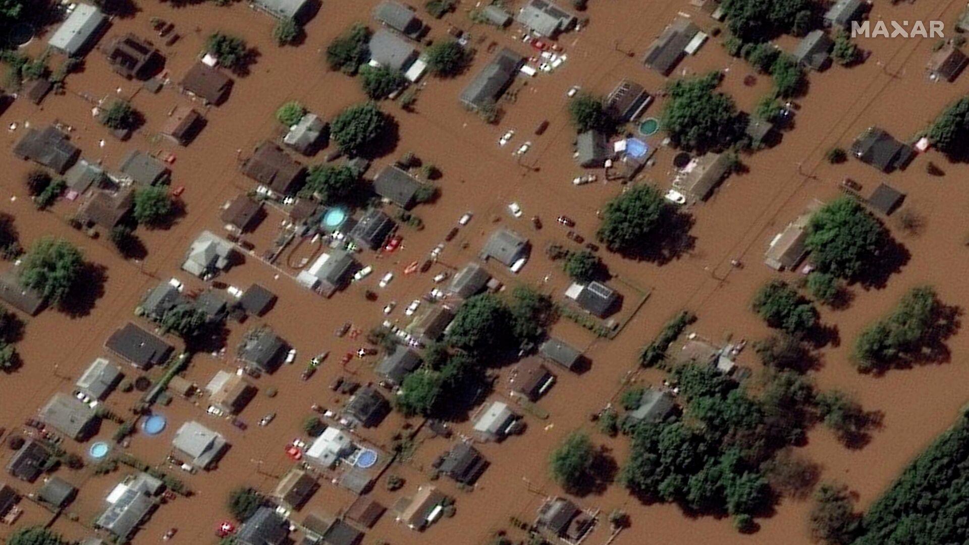 Überflutete Gegend im US-Bundesstaat New Jersey - SNA, 1920, 03.09.2021