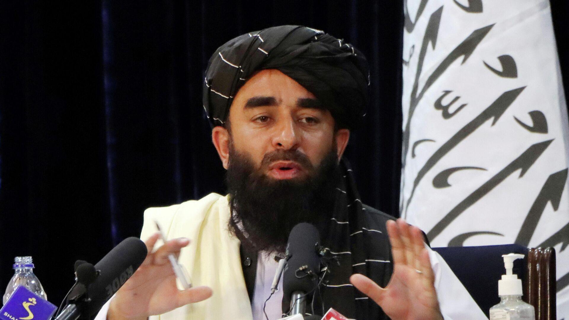 Sprecher der radikal-islamistischen Organisation, Sabiullah Mudschahid - SNA, 1920, 05.09.2021