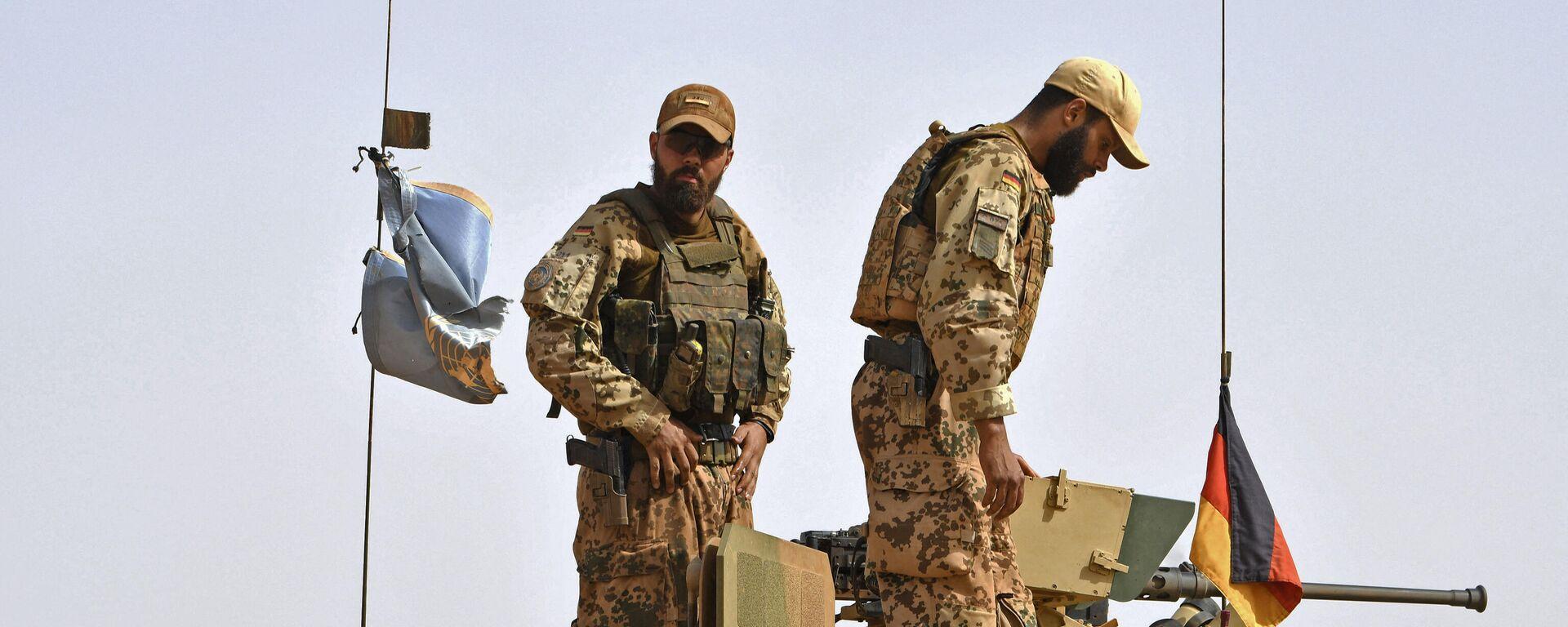 Deutsche Soldaten der Fallschirmspringer-Abteilung der MINUSMA (United Nations Multidimensional Integrated Stabilization Mission in Mali) in Mali am 2. August 2018 - SNA, 1920, 03.09.2021