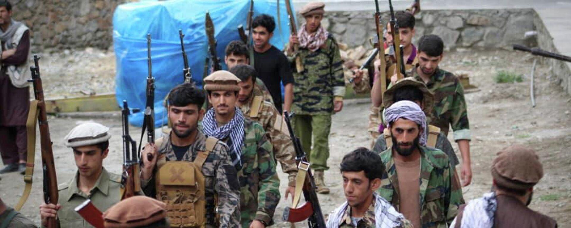 Widerstandskämpfer in der afghanischen Provinz Pandschir - SNA, 1920, 03.09.2021