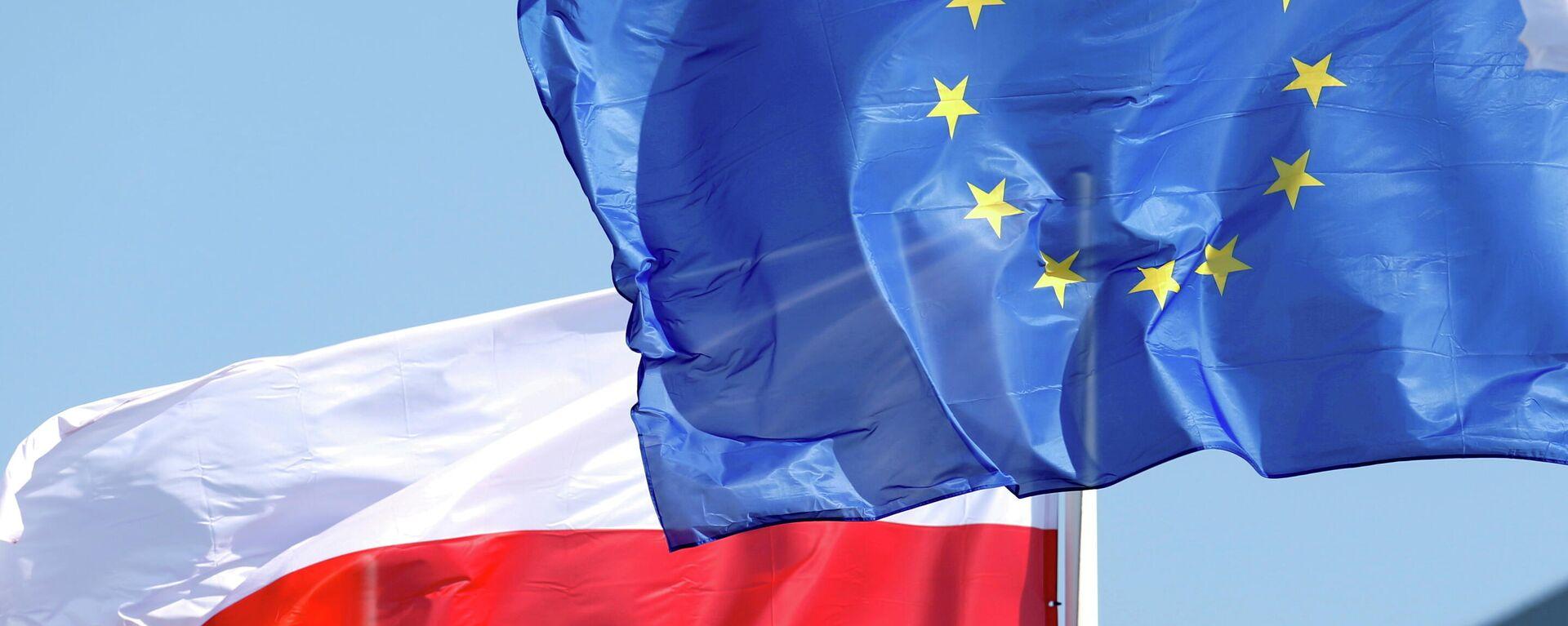 Die Falggen von Polen und der EU - SNA, 1920, 09.09.2021