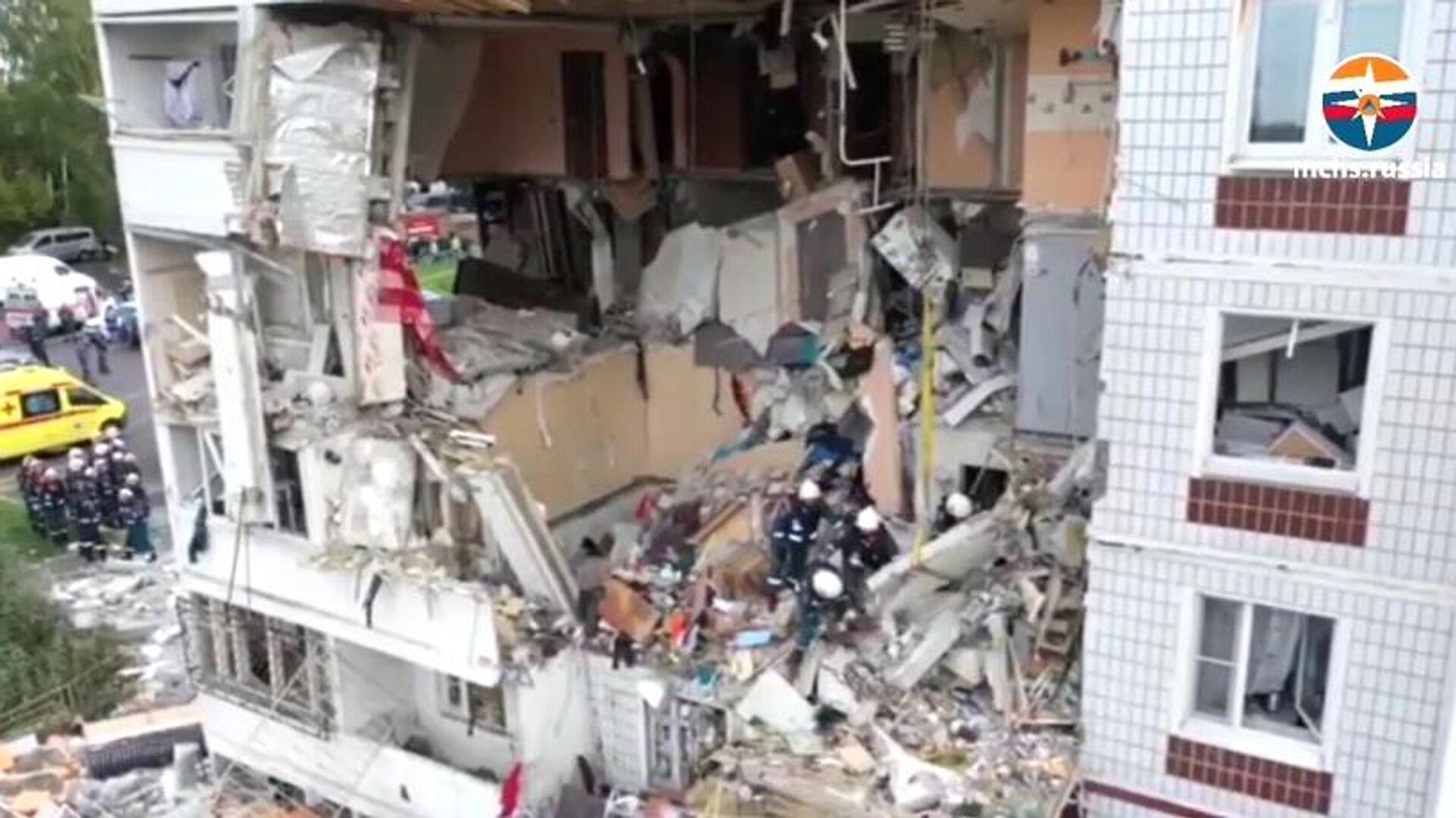 Gasexplosion zerstört Mehrfamilienhaus in Noginsk, Russland - SNA, 1920, 08.09.2021