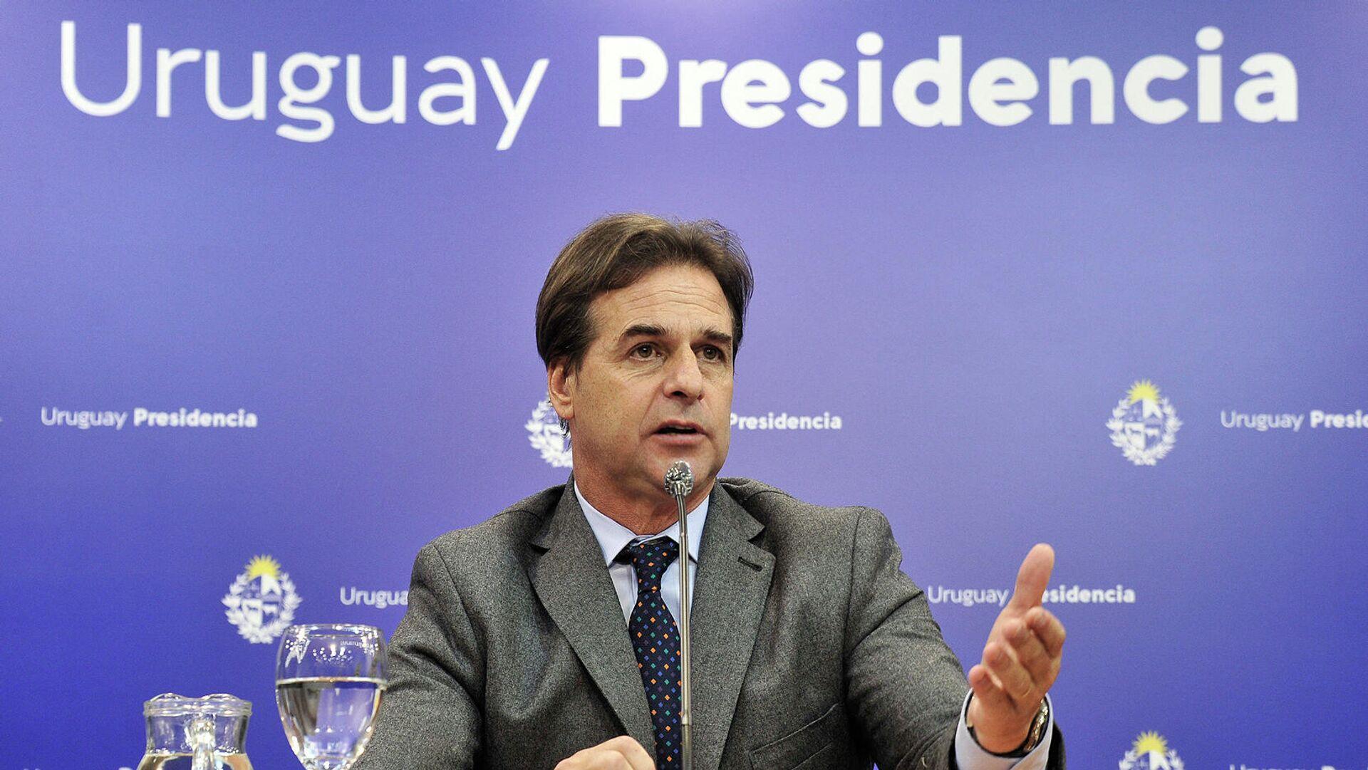 Uruguays Präsident Luis Lacalle Pou  - SNA, 1920, 08.09.2021