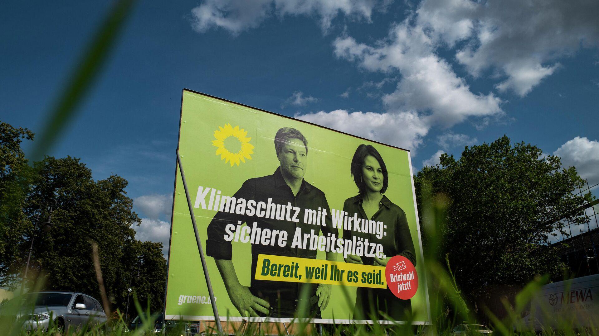 Ein Wahlplakat der Grünen - SNA, 1920, 08.09.2021