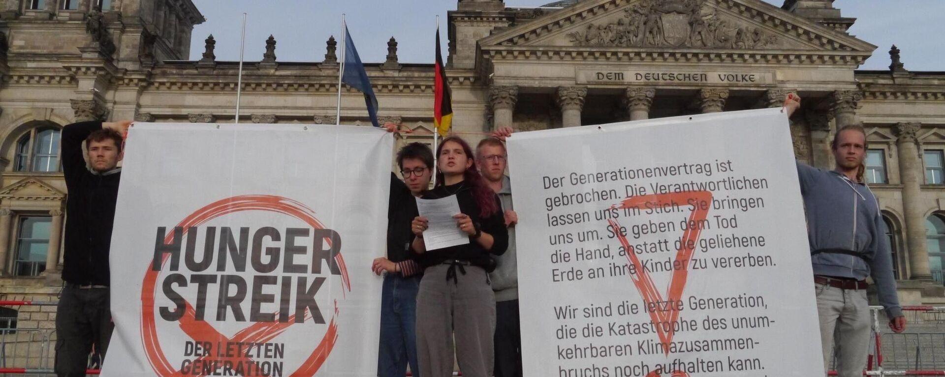 Hungerstreik der letzten Generation - SNA, 1920, 08.09.2021