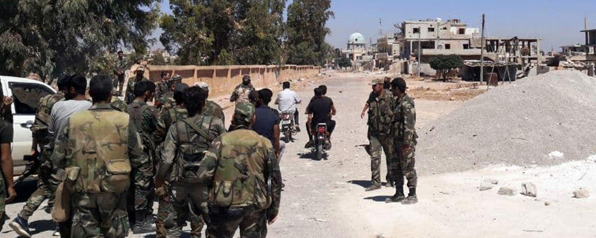 Soldaten in der syrischen Provinz Daraa  - SNA, 1920, 08.09.2021