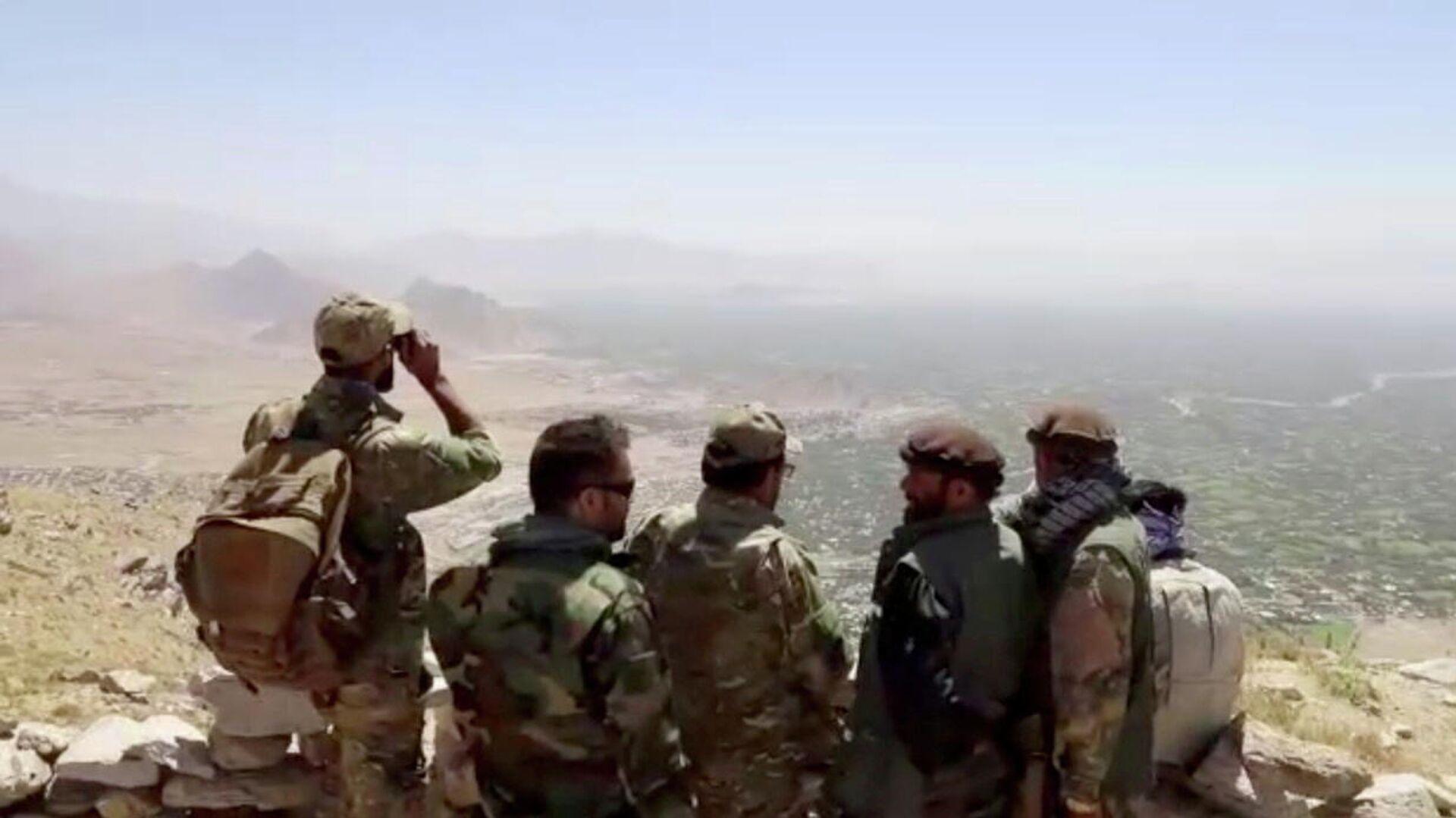 MItglieder der Nationalen Widerstandsfront nahe der  Stadt GOlbahar in der Afghanischen Provinz Kapissa   - SNA, 1920, 09.09.2021