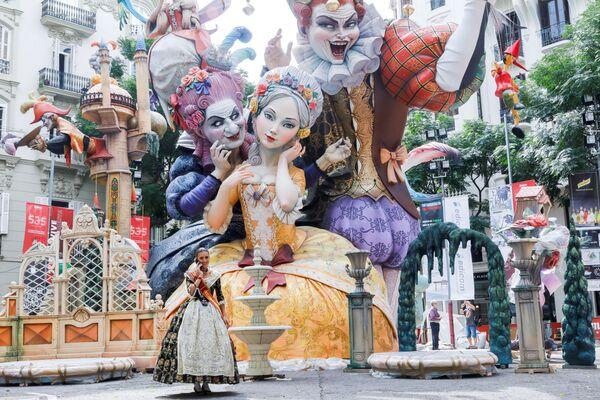 Fallas-Festival in Valencia, Spanien. - SNA
