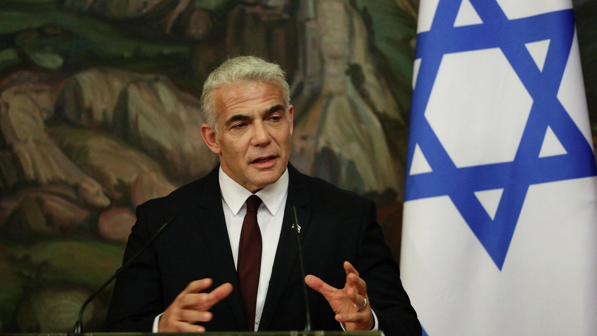Israels Außenminister Jair Lapid - SNA, 1920, 10.09.2021