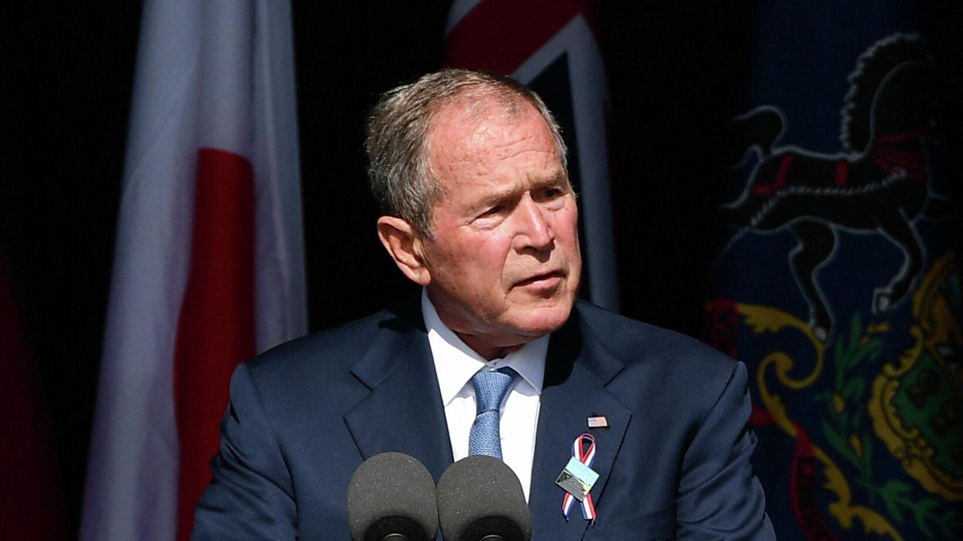 Der ehemalige US-Präsident George W. Bush beim Gedenkveranstaltung der Anschläge vom 11. September 2001  - SNA, 1920, 11.09.2021