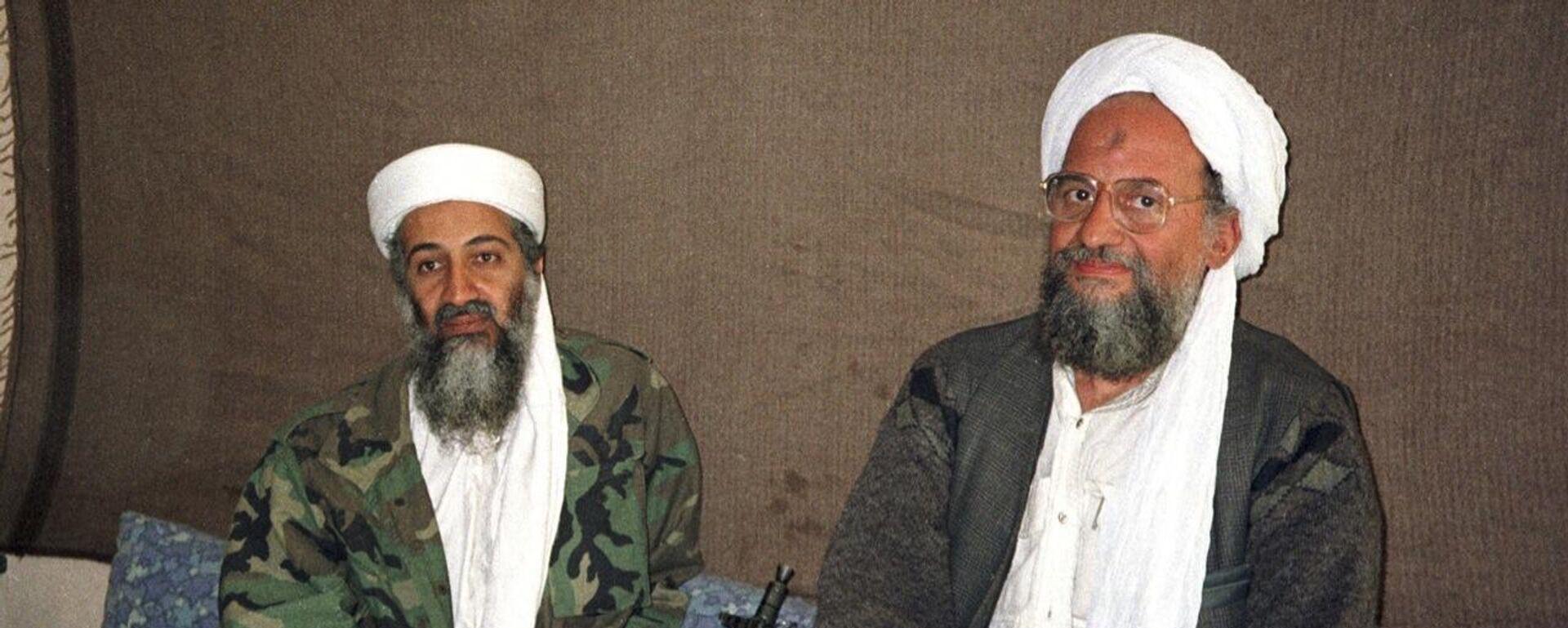 Osama bin Laden und sein Nachfolger Ayman al-Zawahiri - SNA, 1920, 12.09.2021