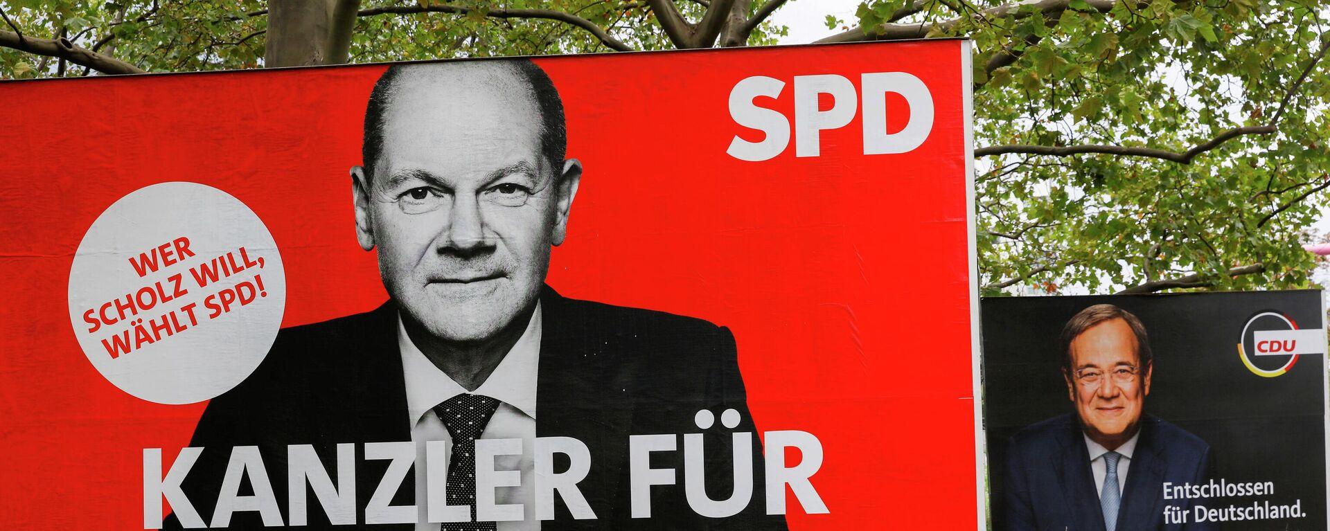 Wahlkampfplakate der SPD und CDU - SNA, 1920, 22.09.2021