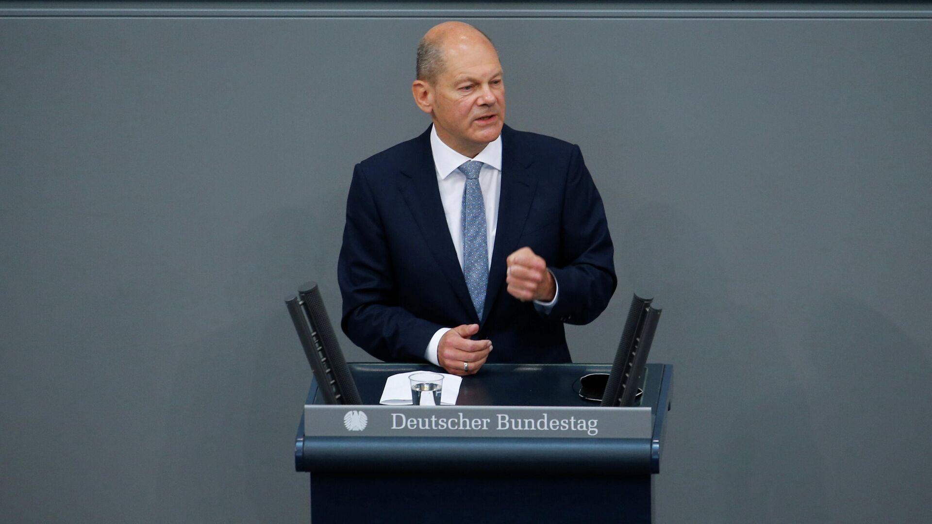 Olaf Scholz hält Rede im Bundestag - SNA, 1920, 12.09.2021