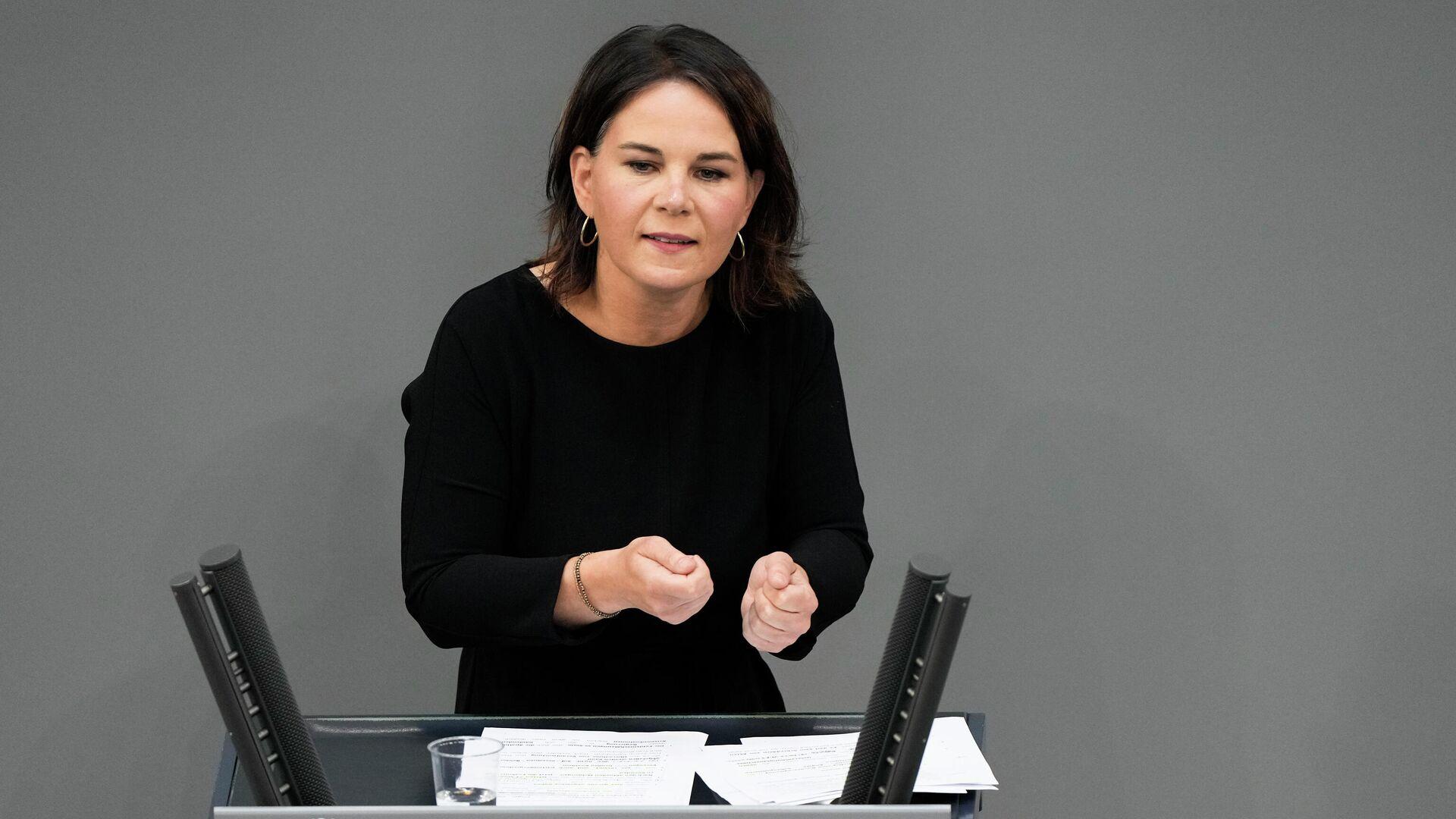 Grünen-Kanzlerkandidatin Annalena Baerbock - SNA, 1920, 13.09.2021