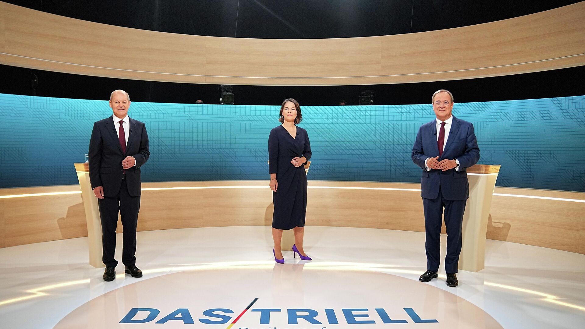 Die TV-Debatte von Annalena Baerbock, Olaf Scholz und Armin Laschet - SNA, 1920, 19.09.2021