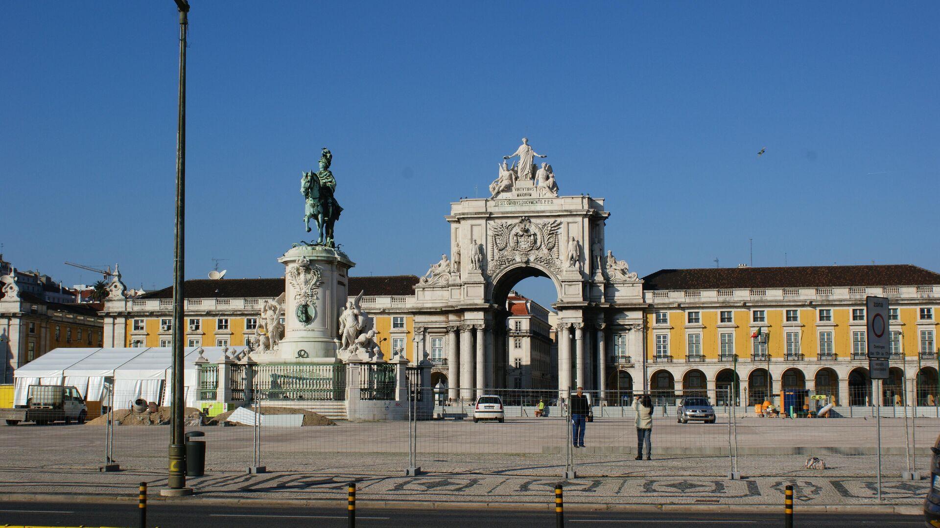 Praça do Comércio (Platz des Handels) in der portugiesischen Hauptstadt Lissabon (Archivbild) - SNA, 1920, 13.09.2021