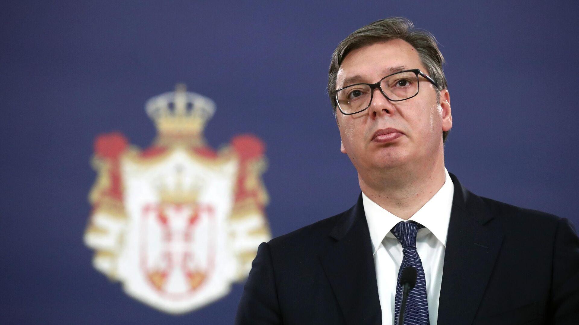 Serbiens Präsident Aleksandar Vucic (Archiv) - SNA, 1920, 11.10.2021