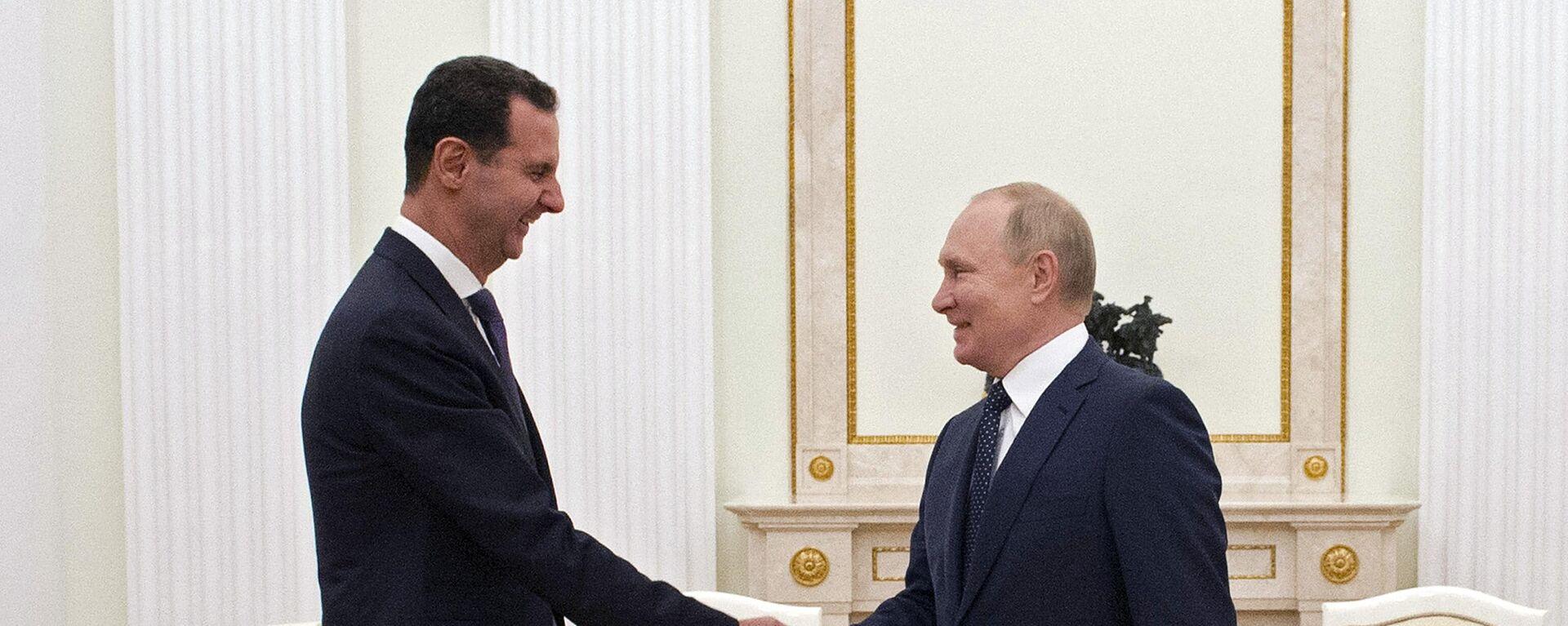 Der russische Präsident Wladimir Putun trifft seinen syrischen Amtskollegen Baschar al-Assad im Kreml - SNA, 1920, 14.09.2021