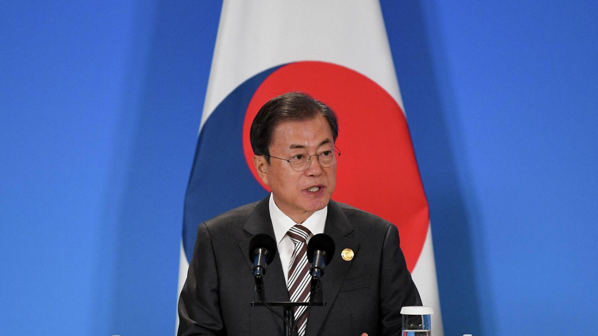 Südkoreas Staatschef Moon Jae-in - SNA, 1920, 15.09.2021