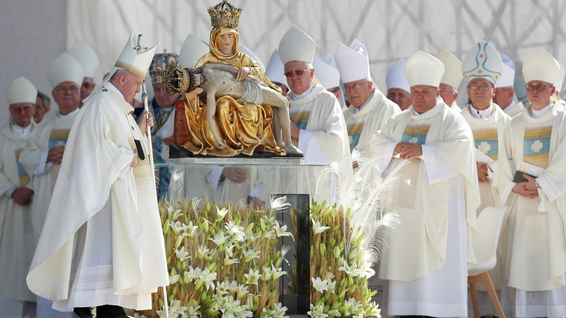 Papst Franziskus bei Besuch in der Slowakei - SNA, 1920, 15.09.2021