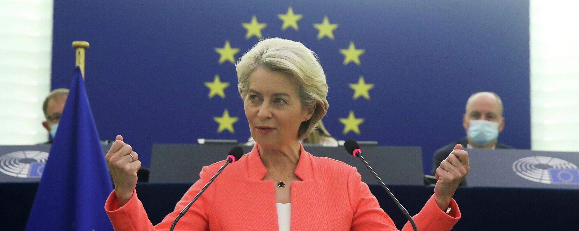 EU-Kommissionspräsidentin Ursula von der Leyen - SNA, 1920, 06.10.2021